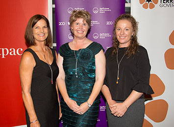 Northern Territory Rural Women's Award finalists (left to right) Annette Howie, Linda Blackwood, Amber Driver