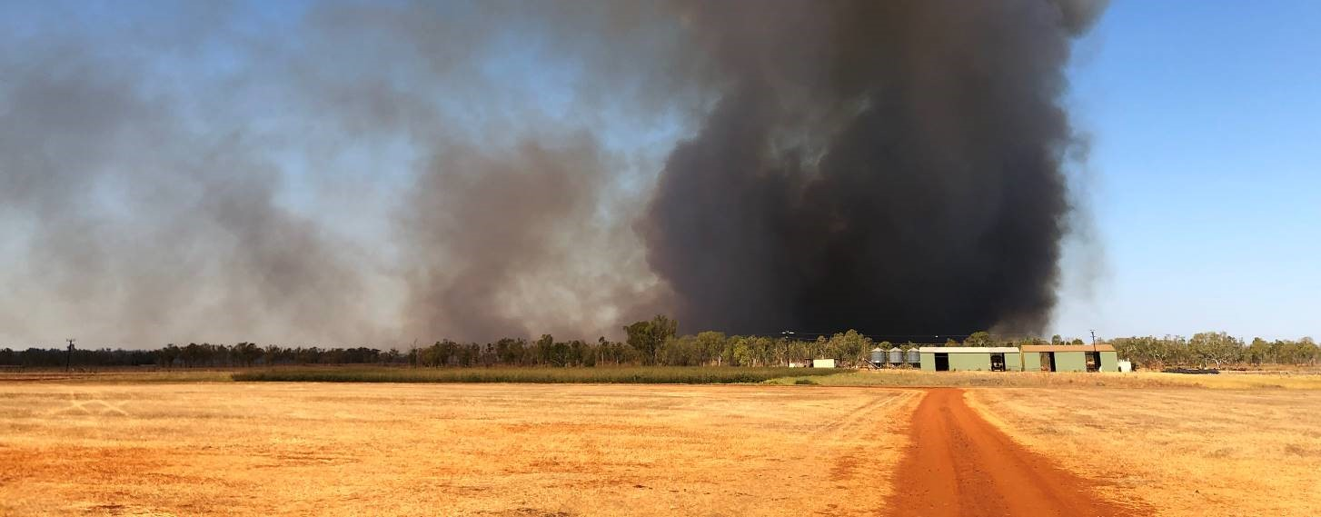 Smoke from recent fire in the Katherine area, NT