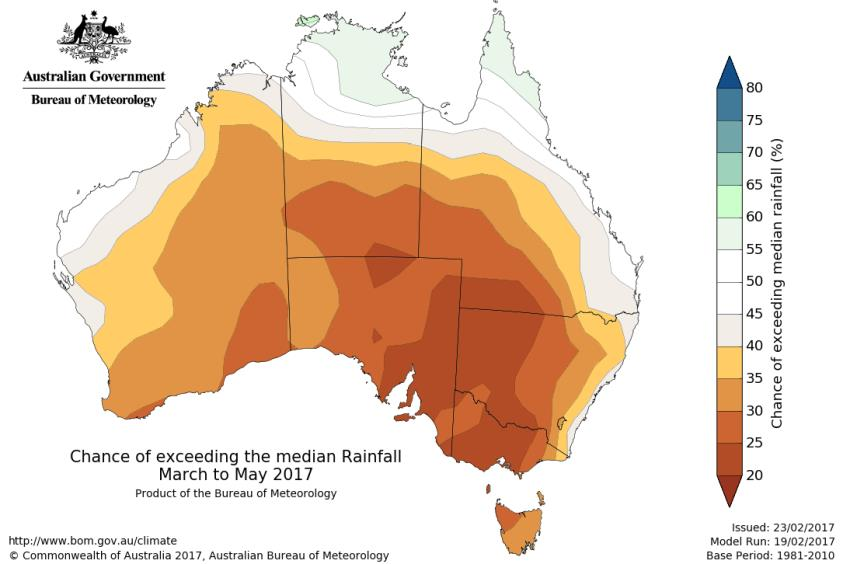 Rainfall maps. Sourced from the Australian Bureau of Meteorology