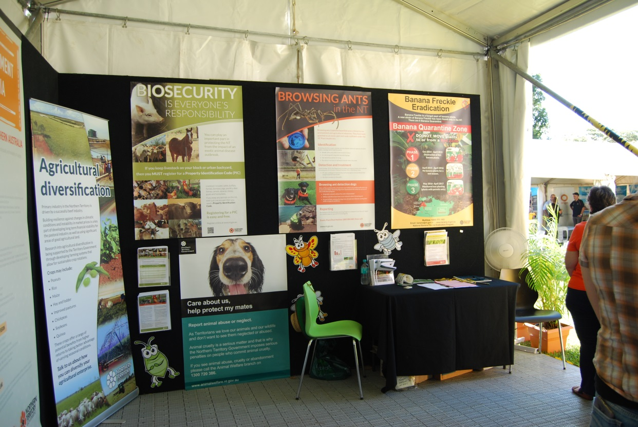 The Biosecurity display was a popular talking point for showgoers