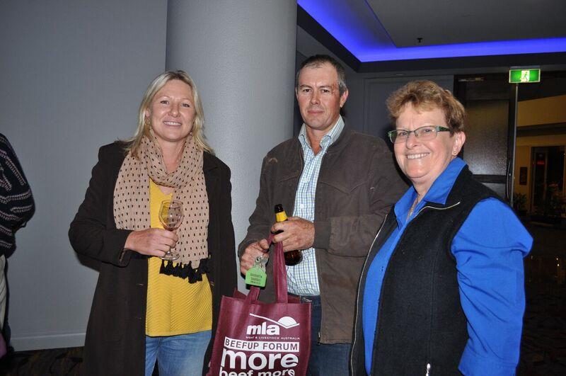 Sarah and Craig Cook, and Barbara Bishop enjoyed the Alice Springs BeefUp Day