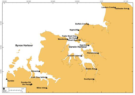 Recreational fishing survey site map