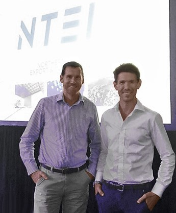 AMA's Regional Manager Chris Oliver (L) and CEO Frank Miller (R), finalists in the Chief Minister's Northern Territory Export and Industry