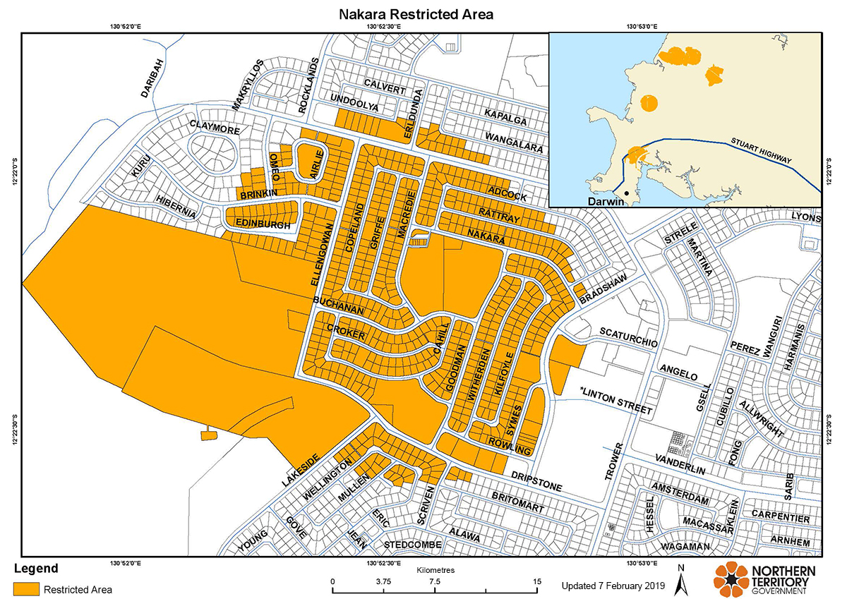 Nakara restricted area map