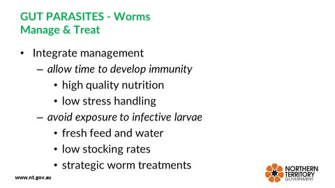 Figure 2. Recommended worm control