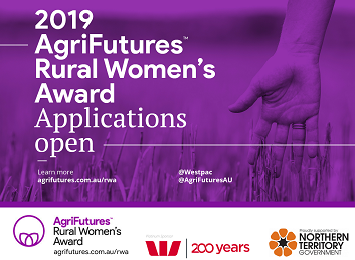 2019 Rural Women's Award applications open