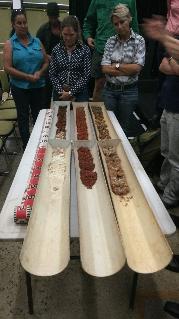 The audience viewing the major soil types of the Northern Territory