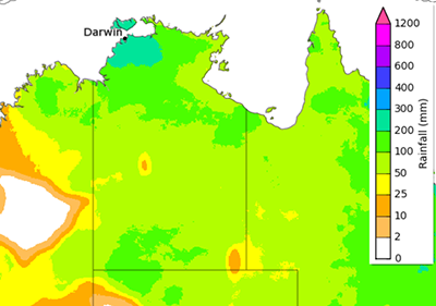 ainfall totals that have a 50% chance of occurring for the period September to November 2020. www.bom.gov.au