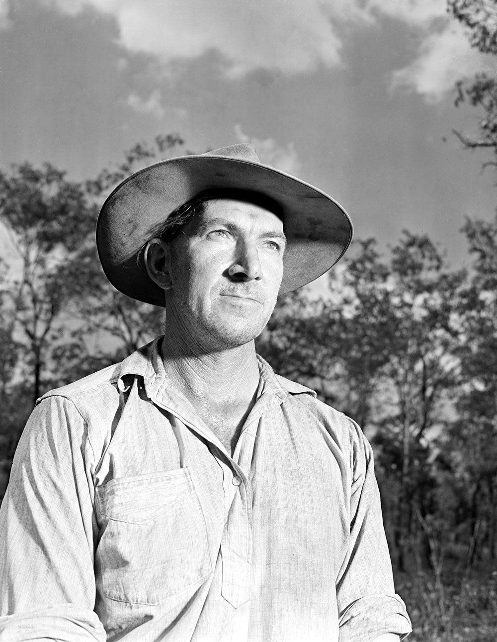 Jack White, prospector who discovered the first uranium deposit at Rum Jungle in 1949 (1955). National Archives of Australia: A1200, L19444