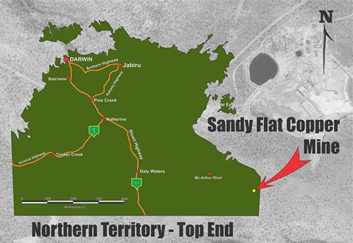 Redbank Mine locality map.