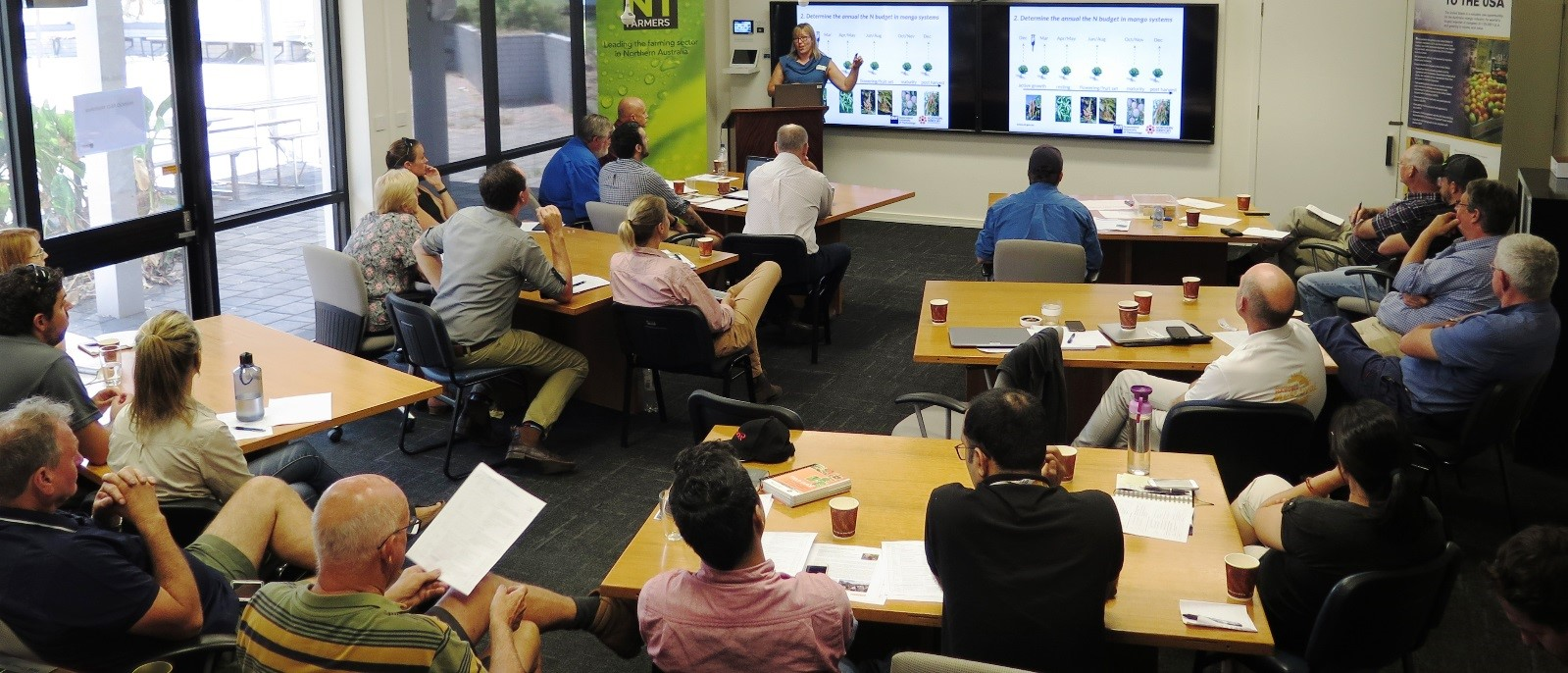Mila Bristow presents at the NT Mango forum held in Darwin in May 2018