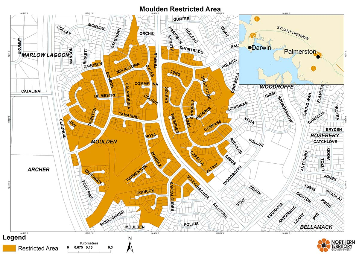 Moulden restricted area