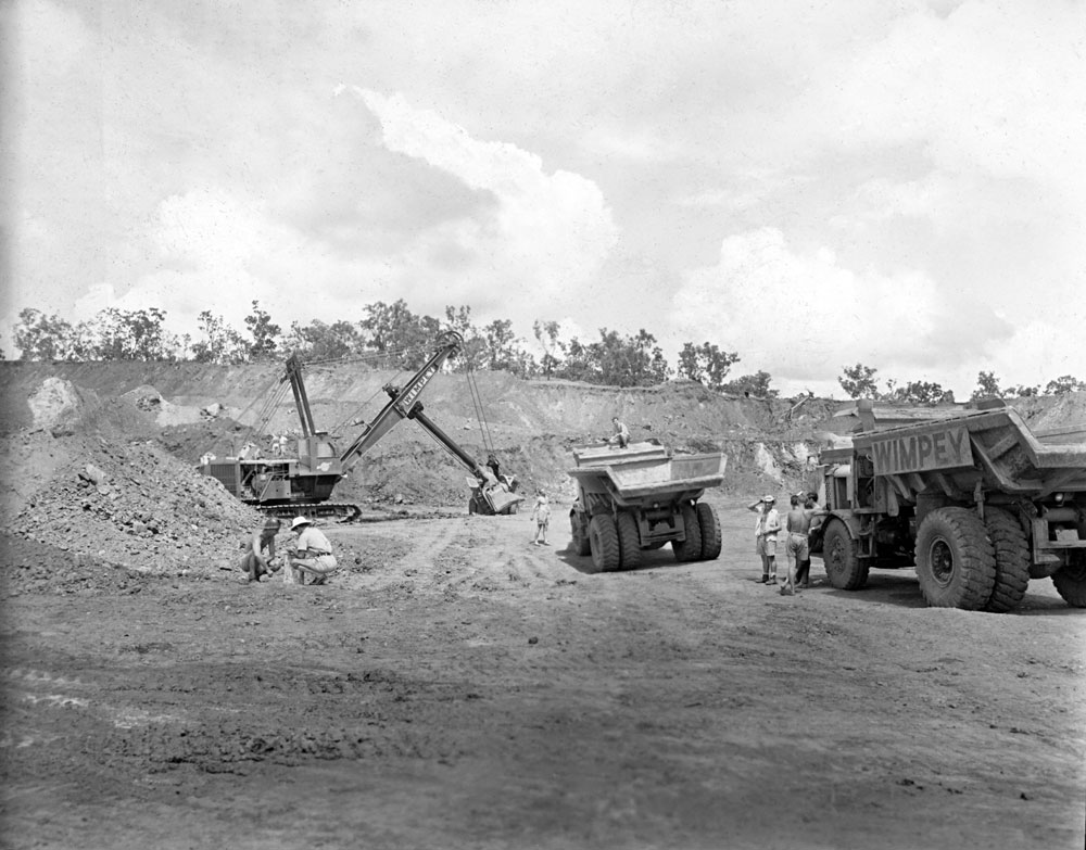 Dyson's open cut pit, Rum Jungle (1958). National Archives of Australia: A1200, L25501