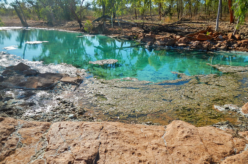Hanrahans Pool during the dry season (August 2014)