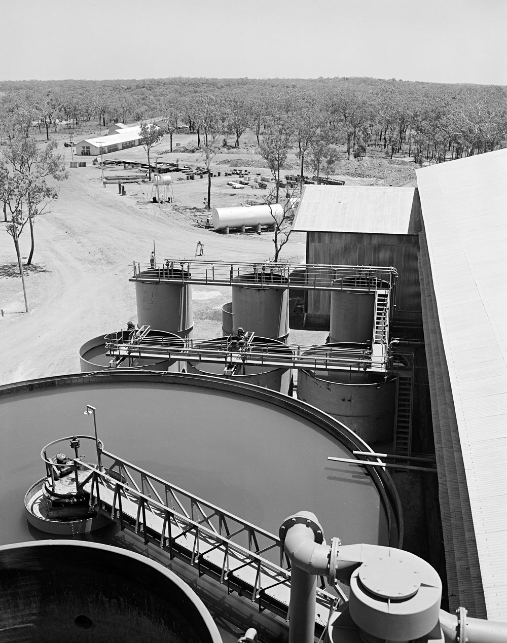 Treatment plant, Rum Jungle (1957). National Archives of Australia: A1200, L23831