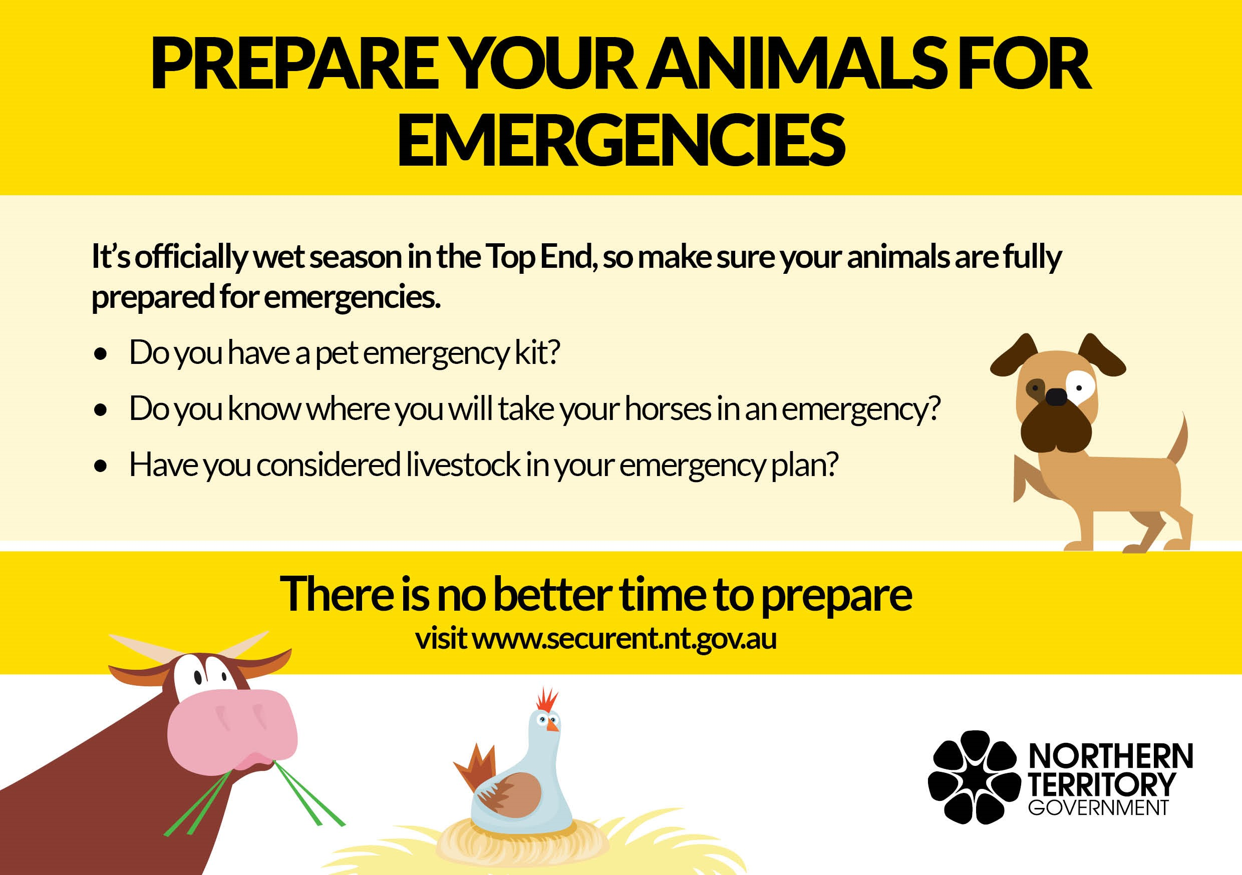 Prepare your animals for emergencies