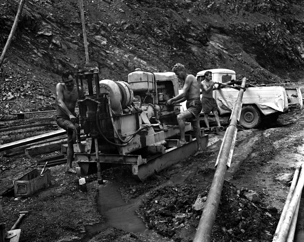 Diamond drilling team at Rum Jungle (1958). National Archives of Australia: A1200, L25496