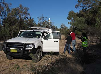 Methane monitoring work in QLD Photo Credit: CSIRO